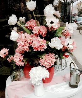 coral flower pot